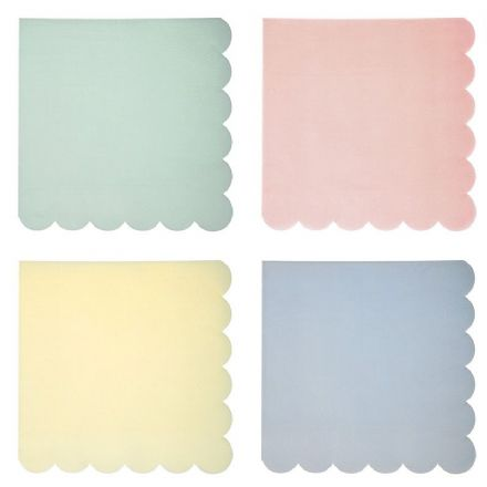 Pastel Party Napkins - Large,  pack of 20